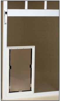 best screen door for dogs | hale pet door is not a hanging screen door