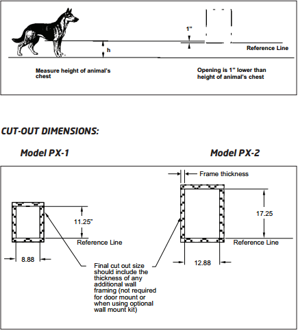 With purchase, this pet door comes with instructions including cutout assistance to make sure this is done properly