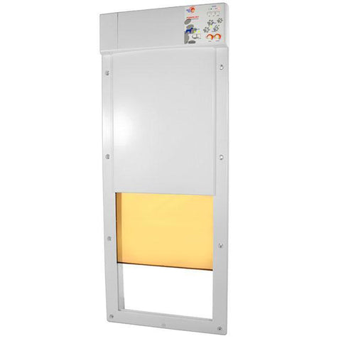high tech automatic pet door for doors front view