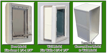 Ideal ruff weather through wall dog door kit set