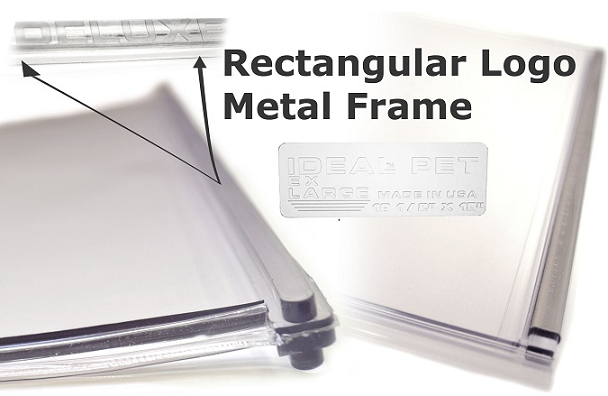 Ideal Deluxe with rectangular logo and metal frame