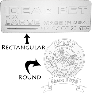 Ideal rectangular logo versus round logo