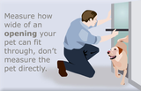 Measure the width of your pet on either side
