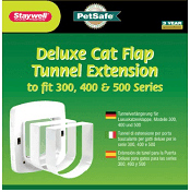 Deluxe Cat Flap Tunnel Extension, ruff weather wall installation through the wall dog door, power in wall pet door kit