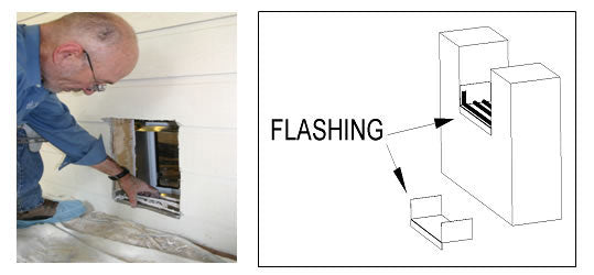 Place the flashing