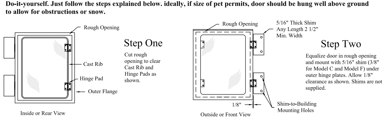 Pickwick Kennel Doors by Mason Company installation instructions