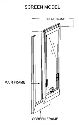 Hale Pet Door for Screen Frame