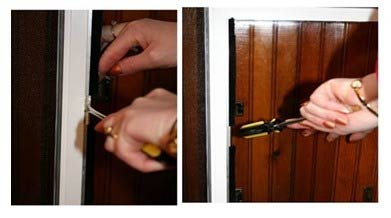 adjust the magnets in the pet door upward or downward if needed