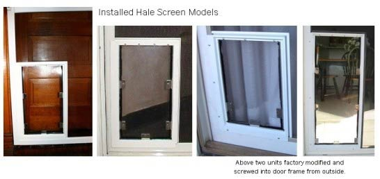 Your installation is now completed. We hope you and your pet enjoy your HALE PET DOOR™ for years to come.