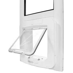 SureFlap Electronic Pet Door in an Endura Flap Thermo Panel is a great magnetic dog door for sliding glass doors.