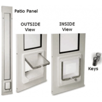 patio pacific thermo panel II with catwalk magnetic cat door
