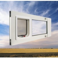 pet door thermo sash with sky backdrop