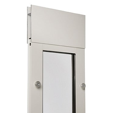 top of the white aluminum framed endura flap thermo panel 3e