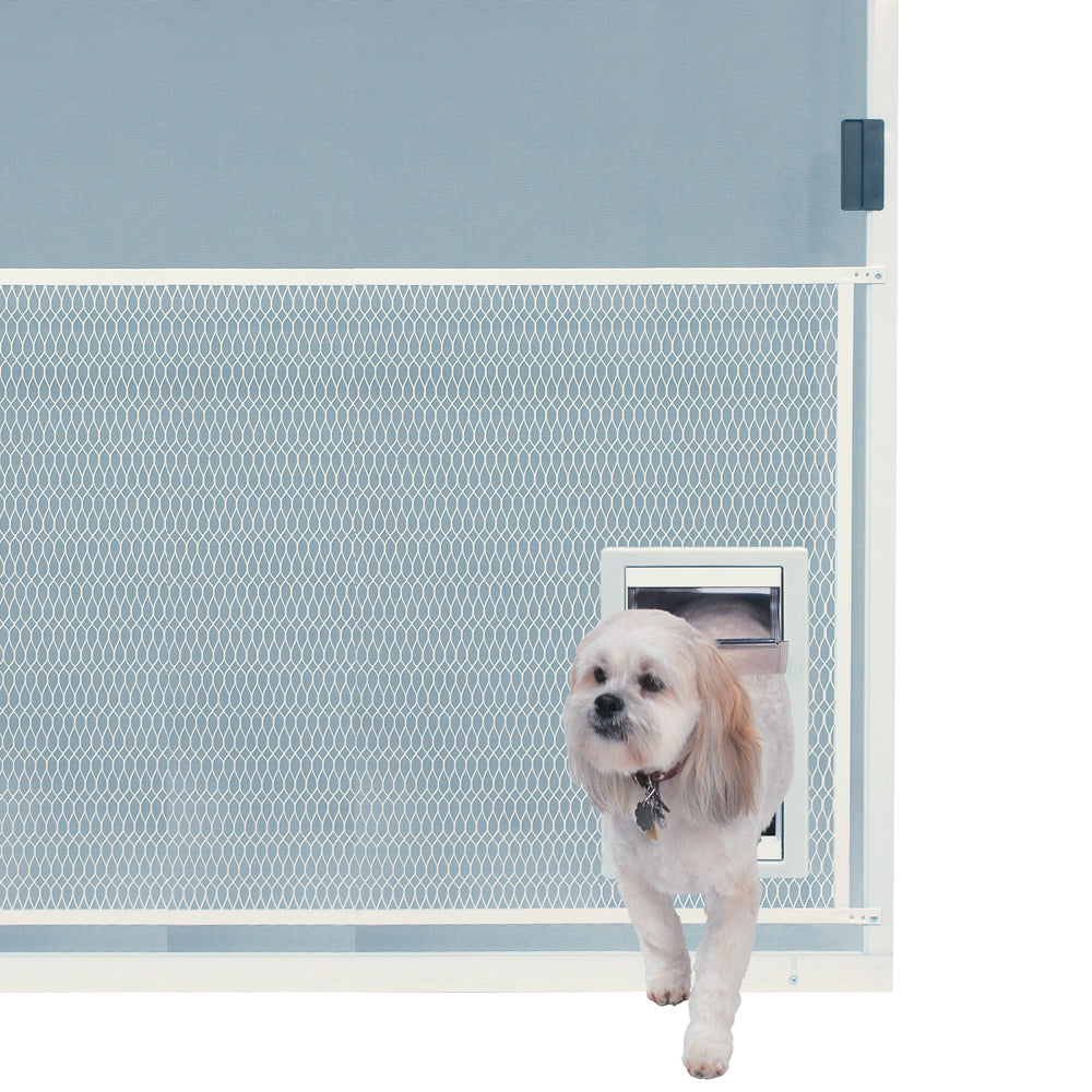 Ideal Screen Guard Pet Door Shown Installed
