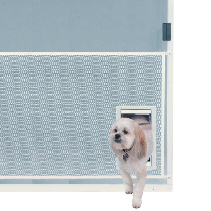 The Ideal Screen-Guard Pet Door can be installed into screen guards that protect your door.