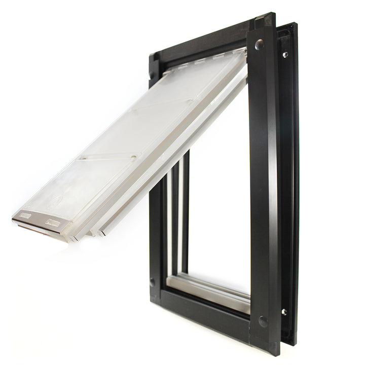 black double flap endura pet flap for doors