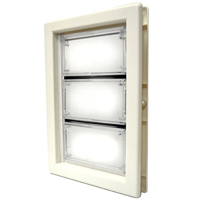 The Ideal Air Seal Ultra Flex pet door with flexible flap