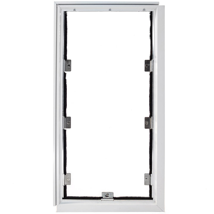 White Hale cat door for screens front view