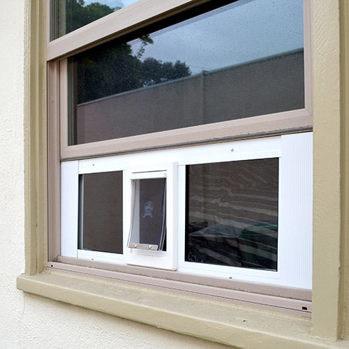 ideal fast sash pet door for sash windows clear flap