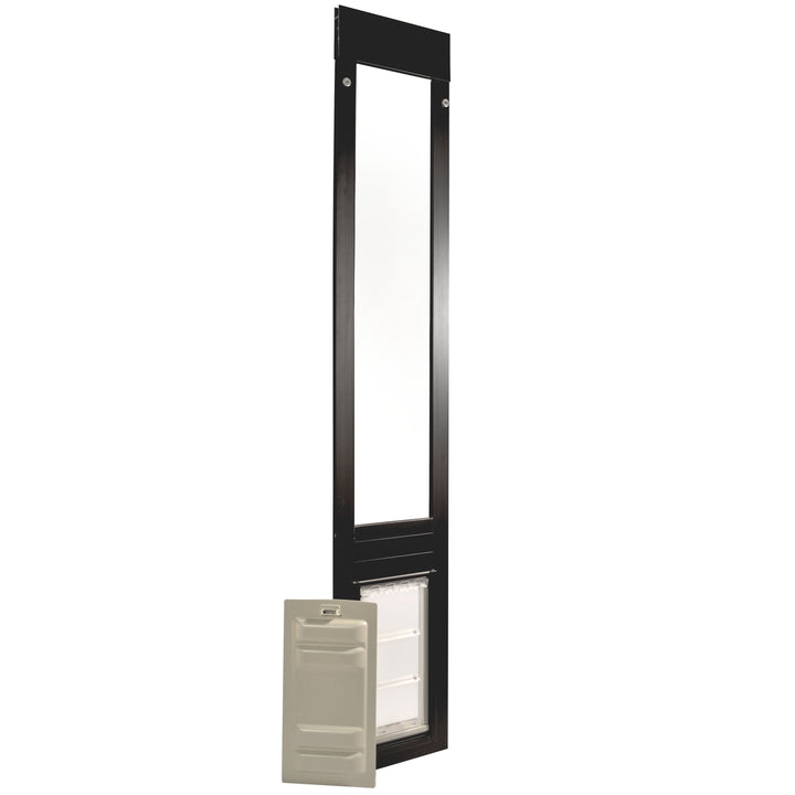 black aluminum framed Endura Flap Thermo Panel 3e with the secure locking cover