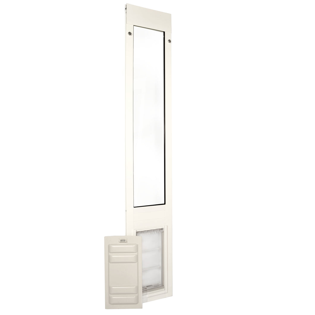 white framed Endura Flap Thermo Panel 3e with durable sliding locking cover