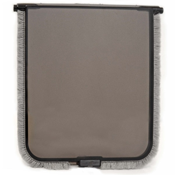 A tinted, polycarbonate, replacement flap lined with gray weatherstripping for Cat Mate 254 and 255.