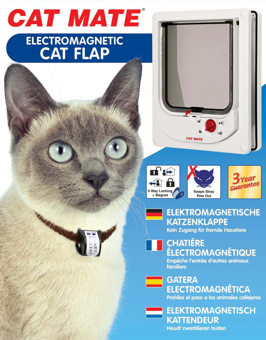 cat mate 254 electromagnetic cat flap box