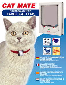 cat mate large electronic cat door box