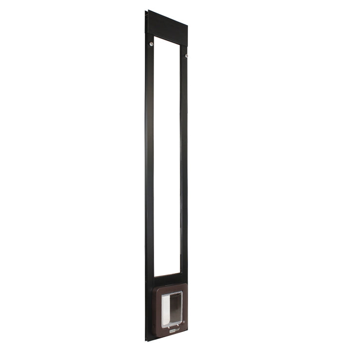 black frame side view Thermo Panel 2e with SureFlap Microchip Pet Door