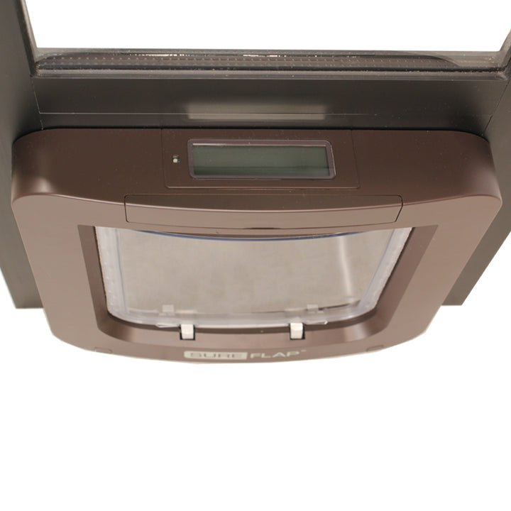 brown Thermo Panel 2e with SureFlap Microchip Pet Door
