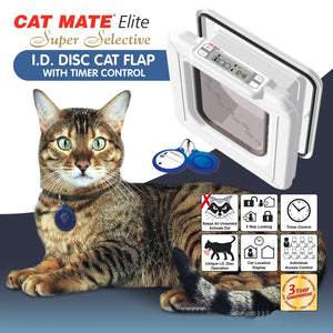 "Cat Mate ""Elite"" 305 Super Selective Electronic Cat Doors"
