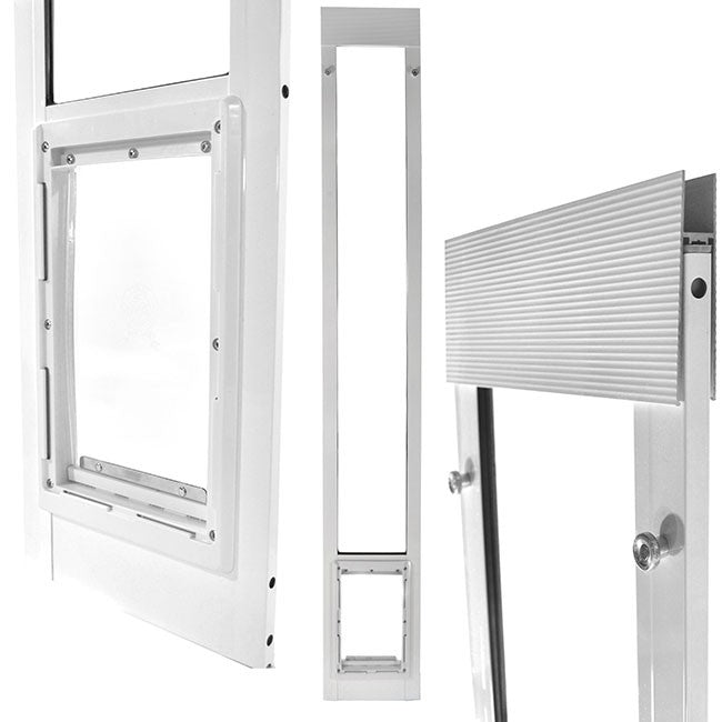 ideal fast fit patio pet door white