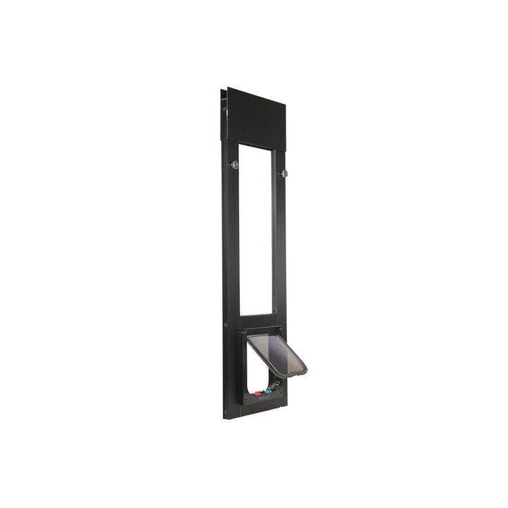 The Whiskers & Windows Cat Door for Horizontal Sliding Windows has a spring-loaded frame