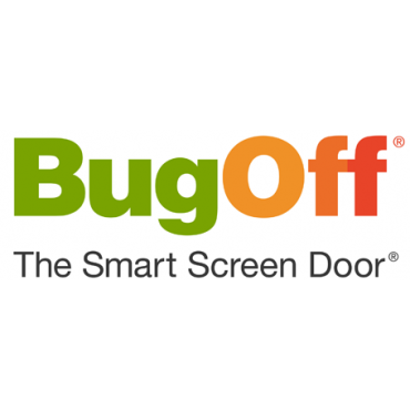 bugoff the smart screen door brand logo
