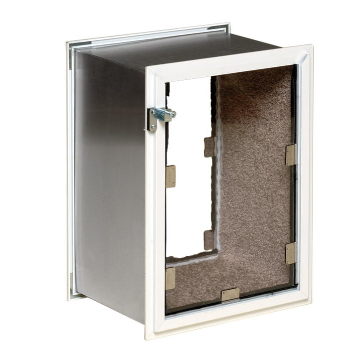 hale wall cat door with carpet lining