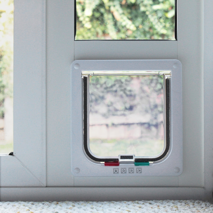 The Whiskers & Windows Cat Door for Horizontal Sliding Windows can fit both small and large cats