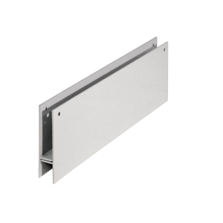The monorail adapter for Endura Thermo Panels in the color white.