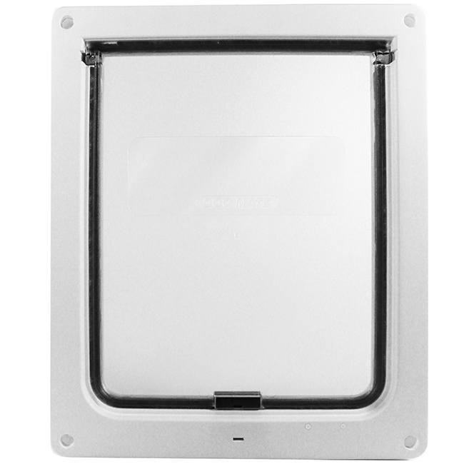 The DogMate 215/216 has a frosted, acrylic flap that dogs can see through, making pet door training easy