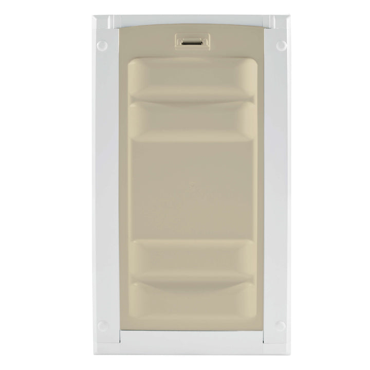 The Endura Pet Doors for Cats use ABS plastic and include a protective locking cover for added security.