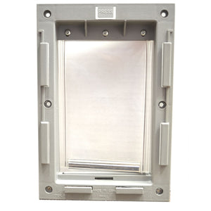Old style flap and frame for Ideal Pet Products Patio Panel Pet dog door replacement flap.