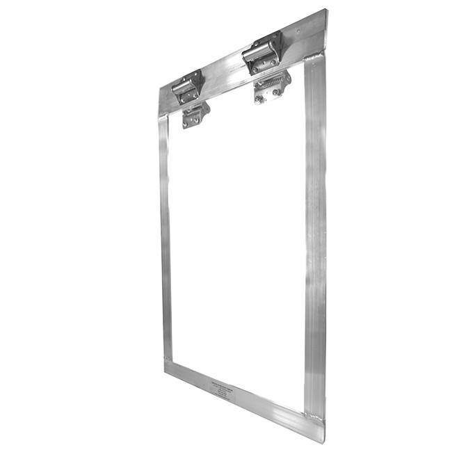The acrylic flap is clear for easy training while still being sturdy and chew-proof