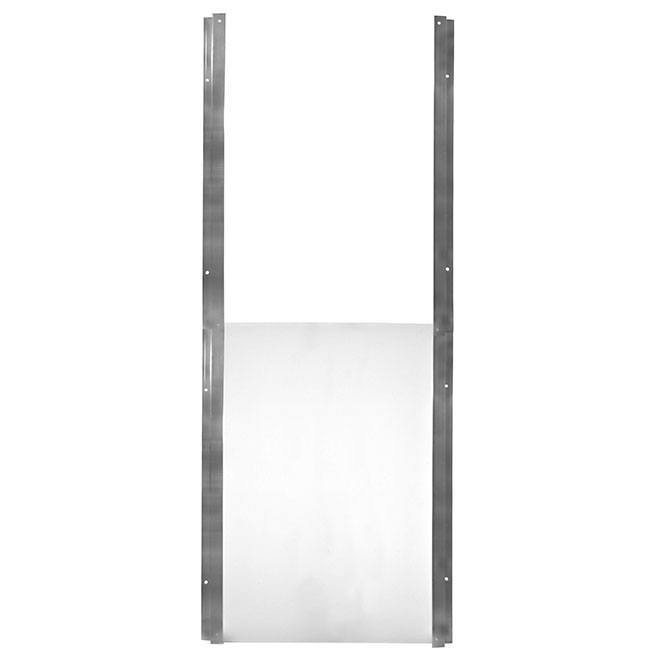 The aluminum frame Gun Dog Guillotine Door for kennels, doors, and walls.