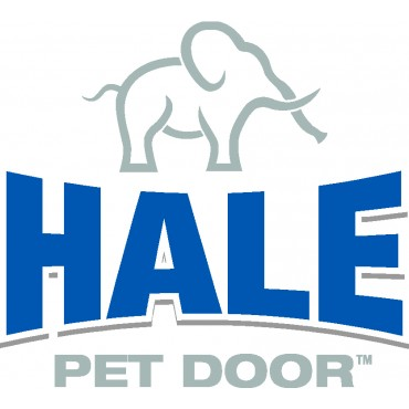 The logo for Hale Pet Doors, which specializes in durable, long-lasting pet doors built for every weather condition