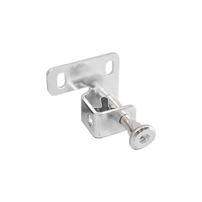 Small, silver pin bolt lock for Hale Pet Doors.