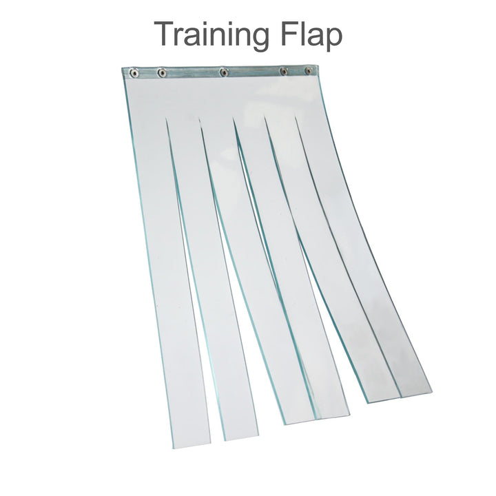 training flap for the Hale pet door for pet door training