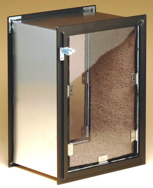 The custom Hale Dog Door for Walls has a tunnel that is lined with carpet for the ease and comfort of your pet