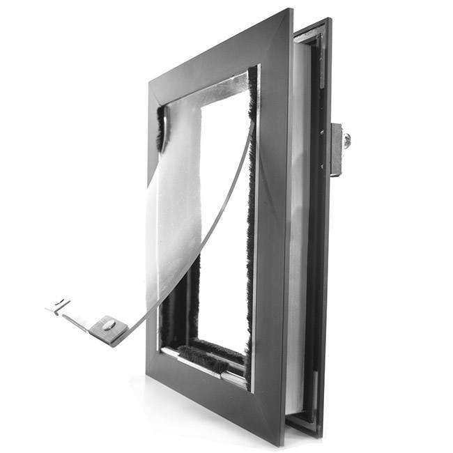 Aluminum frame of hale pet doors for cats - cat door in door