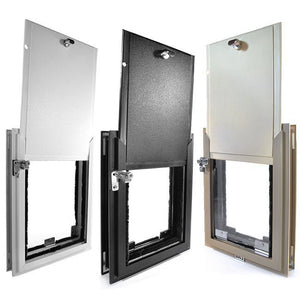 three colors hale pet door for doors with locking covers
