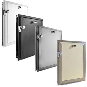 four colors hale pet door for doors with locking covers