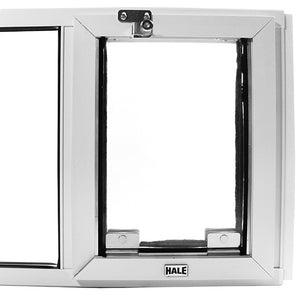"Hale ""Omni"" Pet Door for Sash Windows has two clear flaps for year around energy efficiency"